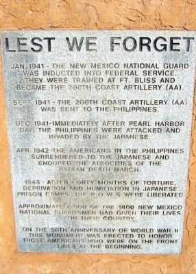 Lest We Forget Marker image. Click for full size.