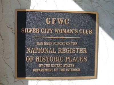 GFWC Silver City Women's Club NRHP Plaque image. Click for full size.