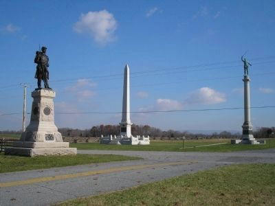 Monuments on Antietam Battlefield image. Click for full size.