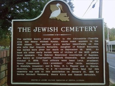 The Jewish Cemetery Marker image. Click for full size.