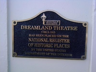 Dreamland Theatre Marker image. Click for full size.