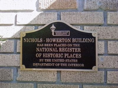 Nichols-Howerton Building Marker image. Click for full size.