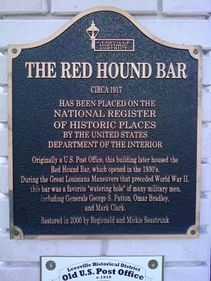 The Red Hound Bar Marker image. Click for full size.