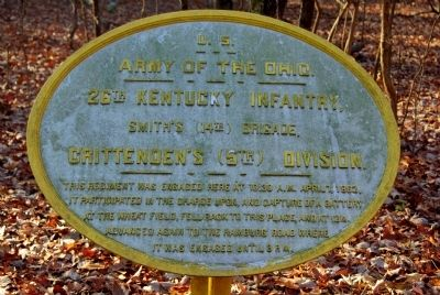 26th Kentucky Infantry Marker image. Click for full size.