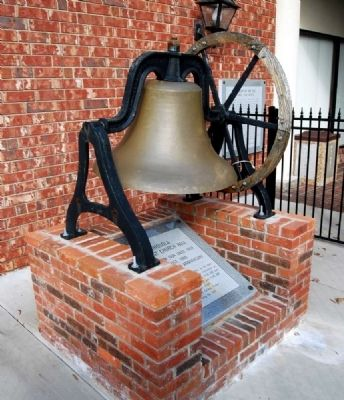 Chiquola Baptist Church Bell and Marker image. Click for full size.