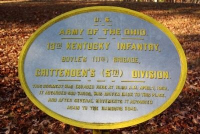 13th Kentucky Infantry Marker image. Click for full size.