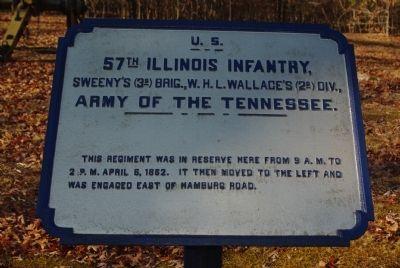 57th Illinois Infantry Marker image. Click for full size.