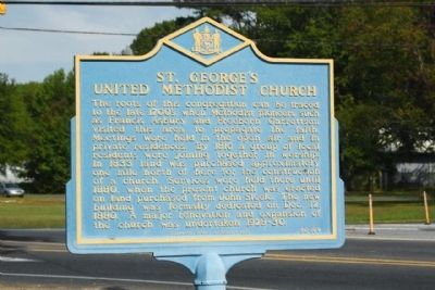 St. George's United Methodist Church Marker image. Click for full size.