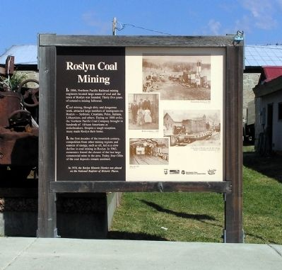 Roslyn Coal Mining Marker Photo, Click for full size