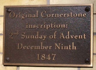 Saint John Cathedral Cornerstone Marker image. Click for full size.