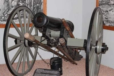 Confederate Iron 6-pdr Cannon image. Click for full size.