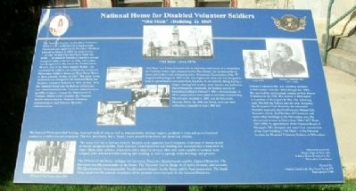 National Home for Disabled Volunteer Soldiers Marker image. Click for full size.