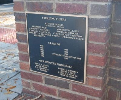 Sterling High School Memorial Marker -<br>Sterling Tigers image. Click for full size.