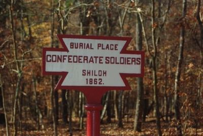 Confederate Burial Trench Marker Photo, Click for full size