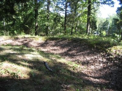 Remains of Trenches near the Battery Position image. Click for full size.