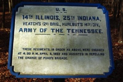 14th Illinois - 25th Indiana Marker image. Click for full size.