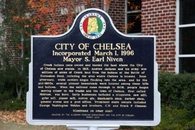 City Of Chelsea Marker Side A image. Click for full size.