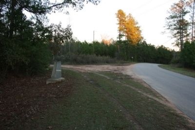 Choctaw Corner Marker Site East View Photo, Click for full size