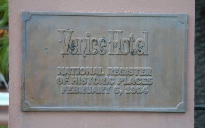 The Hotel Venice Marker image. Click for full size.