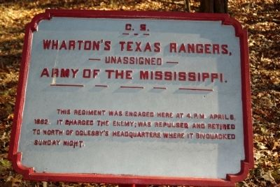 Wharton's Texas Rangers Marker image. Click for full size.