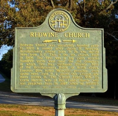 Redwine Church Marker image. Click for full size.