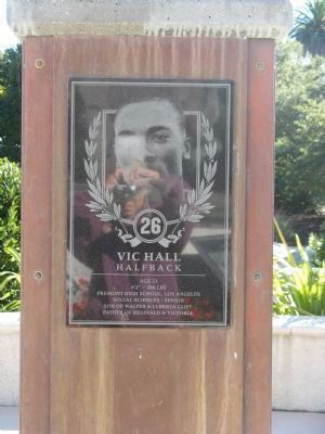 Vic Hall - Halfback - 26 image. Click for full size.