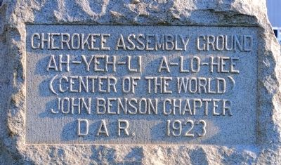 Cherokee Assembly Ground Marker image. Click for full size.