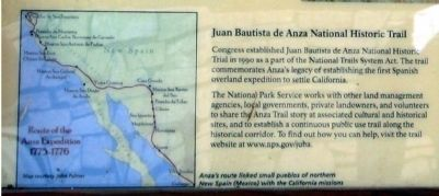 Juan Bautista de Anza National Historic Trail image. Click for full size.