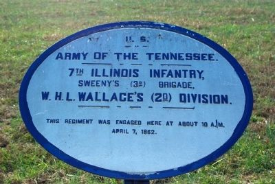 7th Illinois Infantry Marker image. Click for full size.