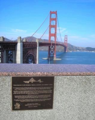 The Golden Gate Bridge: Vision, Genius and Expert Care Marker Photo, Click for full size