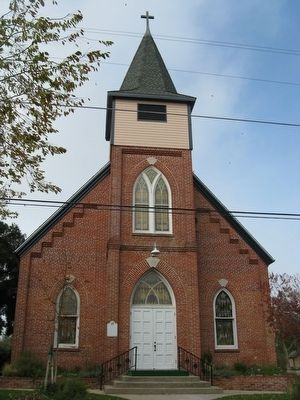 Bethel Lutheran Church and Marker Photo, Click for full size