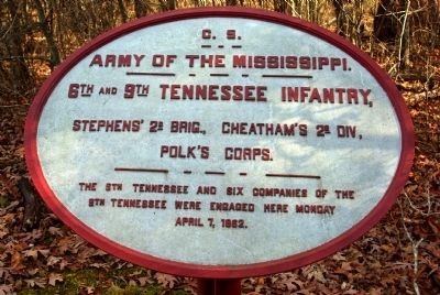 6th and 9th Tennessee Infantry Marker image. Click for full size.