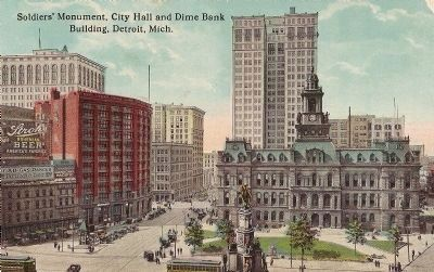 Soldiers and Sailors Memorial Post Card early 1920's image. Click for full size.