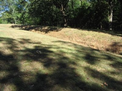 Remains of Confederate Trenches in this Section of the Battlefield image. Click for full size.