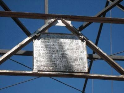 Sign on Suspension Bridge image. Click for full size.
