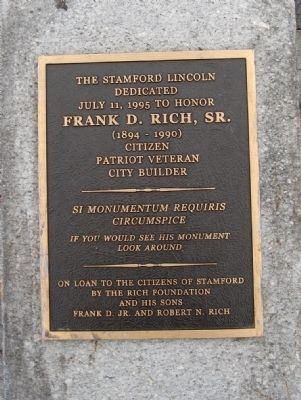 The Stamford Lincoln Marker image. Click for full size.