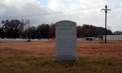 Beattie E. Huff Highway Marker image. Click for full size.