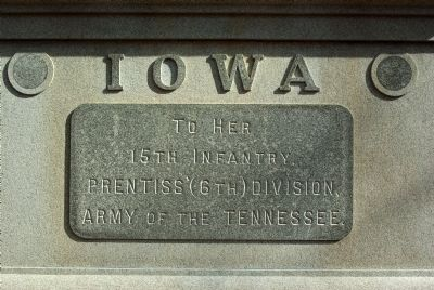 15th Iowa Infantry Marker Photo, Click for full size
