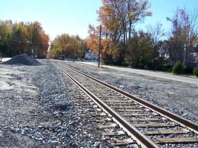 Tracks running through town. Photo, Click for full size