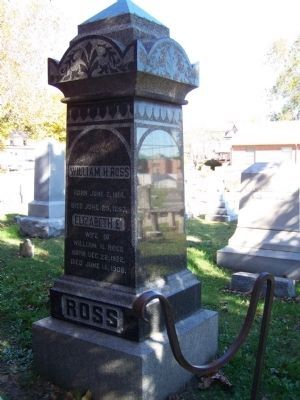 Governor William H. H. Ross Grave Photo, Click for full size