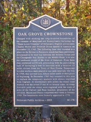 Oak Grove Crownstone Marker Photo, Click for full size