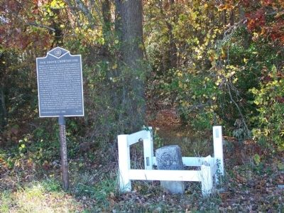 Oak Grove Crownstone Marker and stone image. Click for full size.