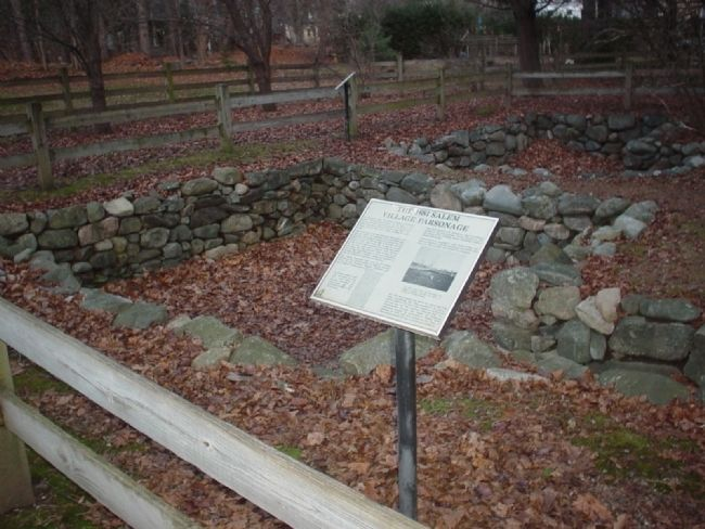 The 1681 Salem Village Parsonage Marker image. Click for full size.
