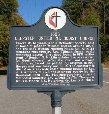 Deepstep United Methodist Church Marker image. Click for full size.