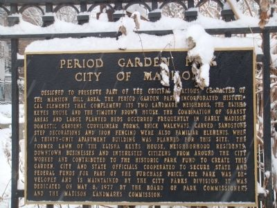 Period Garden Park Marker Photo, Click for full size