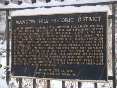 Mansion Hill Historic District Marker Photo, Click for full size