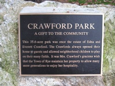 Crawford Park Marker image. Click for full size.