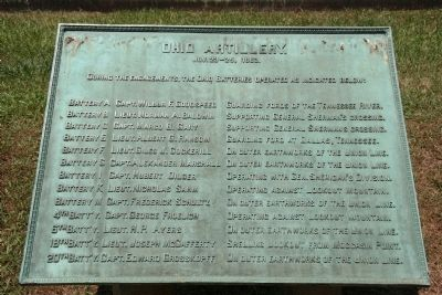 Ohio Artillery. Marker image. Click for full size.