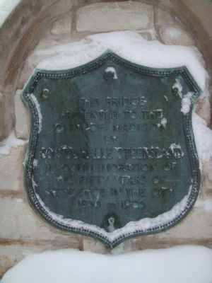 Steensland Bridge Plaque image. Click for full size.