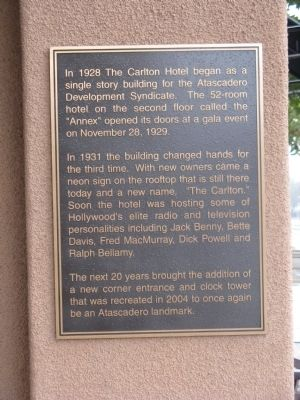 Carlton Hotel Marker image. Click for full size.